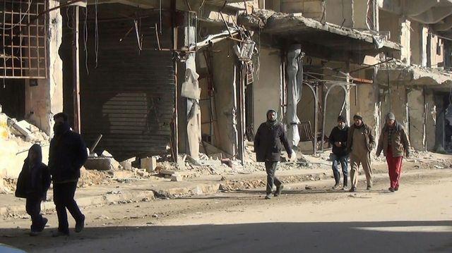 Des habitants d'Alep-Est de retour dans leur quartier