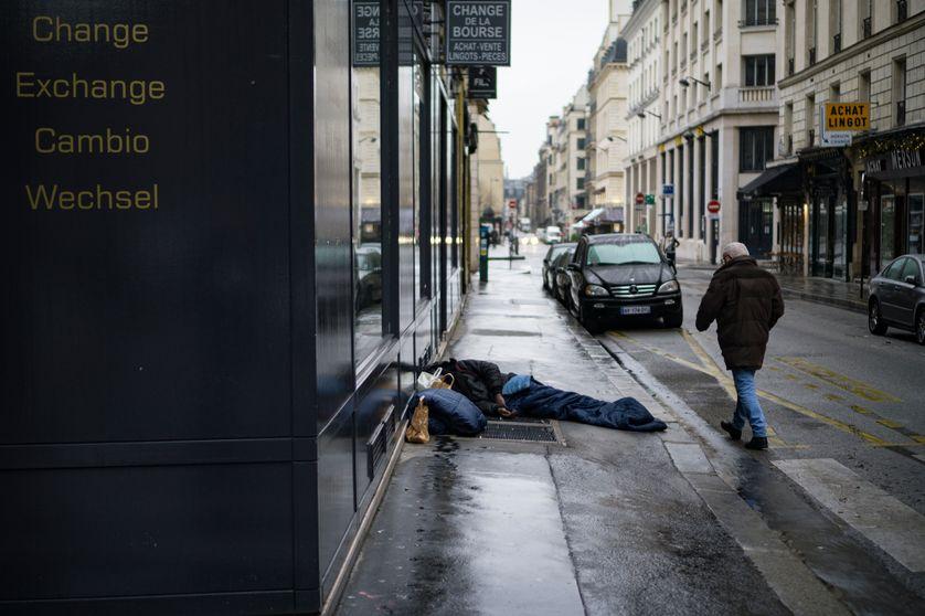 Dans le centre de Paris, janvier 2017