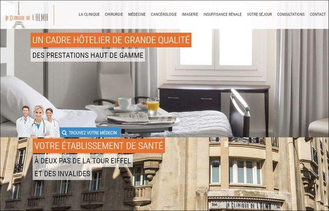Capture d'écran du site internet de la clinique de l'Alma http://clinique-alma.com/, le 5 janvier 2017