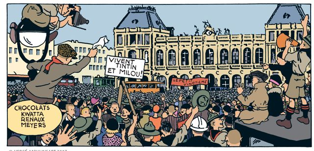 Case de Tintin au Pays des Soviets mis en couleur