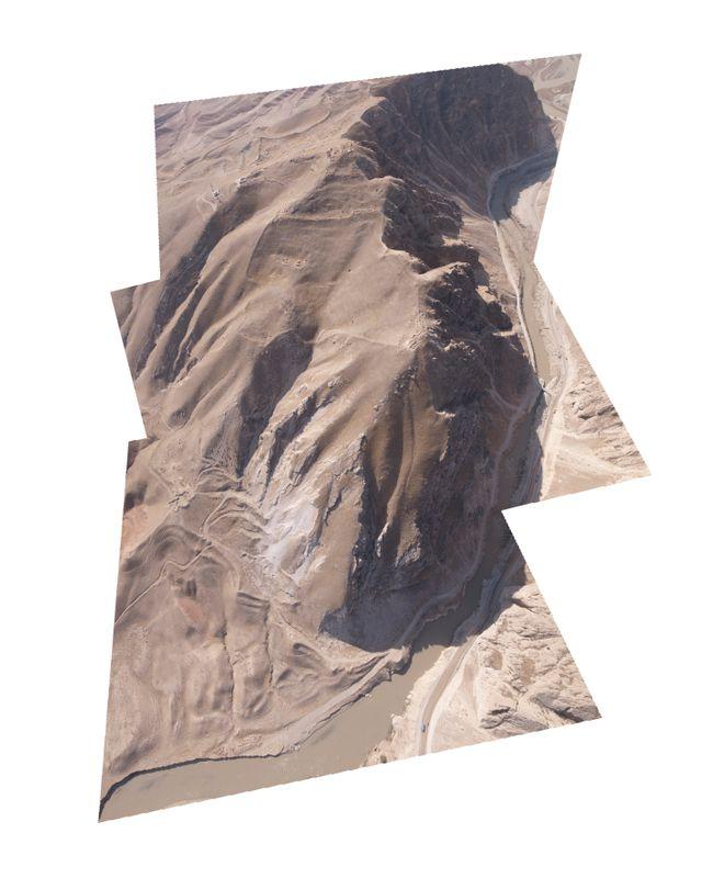Ruine, 2011, impression pigmentaire, 120 x 150 cm KAFIR QALA, GORGES DE LA BALKH-AB Province de Balkh, Afghanistan
