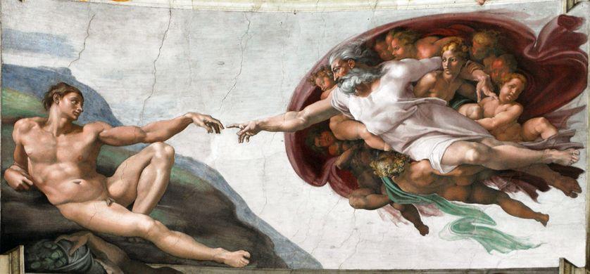 Dieu et la création d'Adam