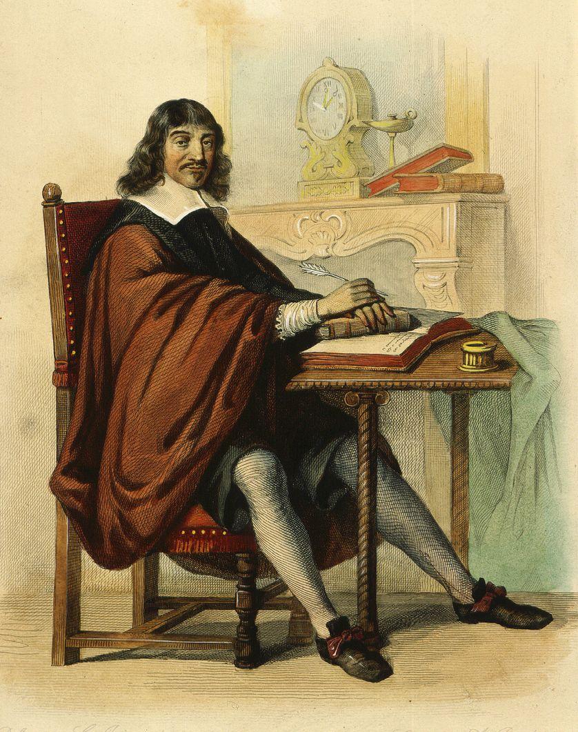 René DESCARTES (1596-1650)  par  C. Jacquand