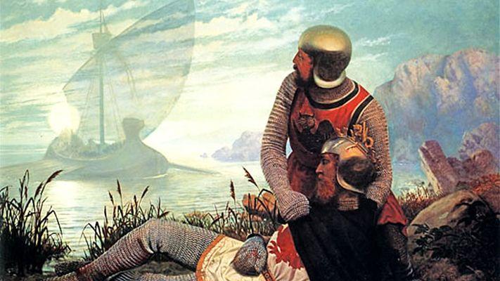 La mort du roi Arthur par John Garrick (1862)