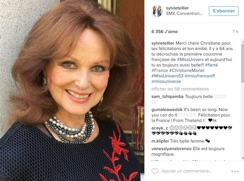 Capture d'écran du compte Instagram de Sylvie Tellier