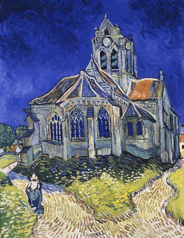 Vincent Van Gogh, L'Église d'Auvers-sur-Oise, vue du chevet, 1890, huile sur toile, 74 cm x 94 cm
