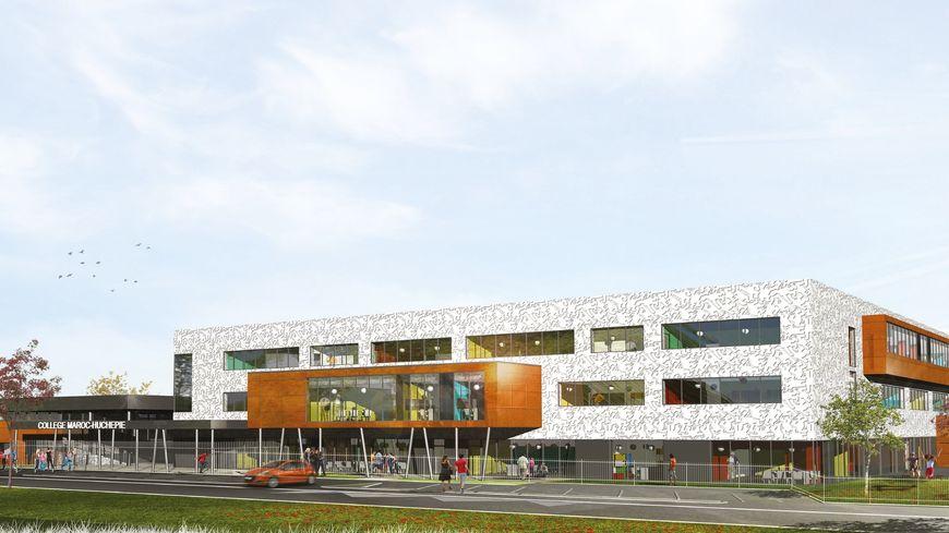 Le futur nouveau collège Maroc Huchepie au Mans, 600 élèves