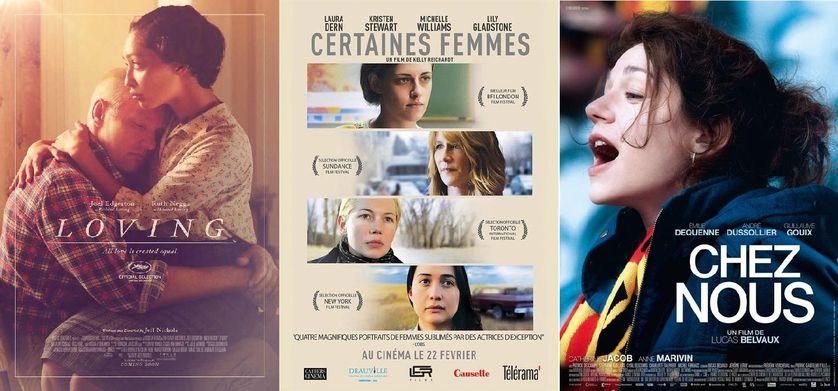 """Affiches films """"Loving"""", """"Certaines femmes"""" et """"Chez nous"""""""