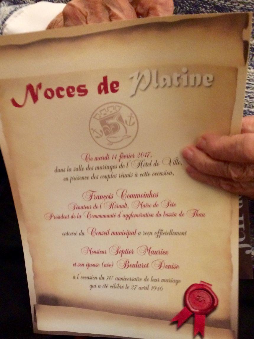Un Couple De Sétois Fête Ses Noces De Platine 70 Ans De Mariage