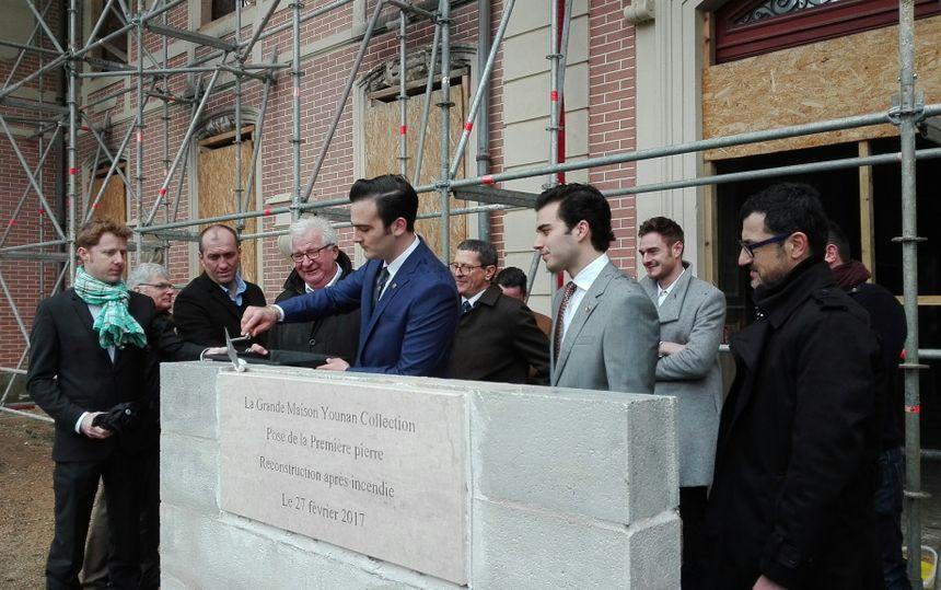 La pose de la première pierre s'est déroulée ce lundi 27 février 2017