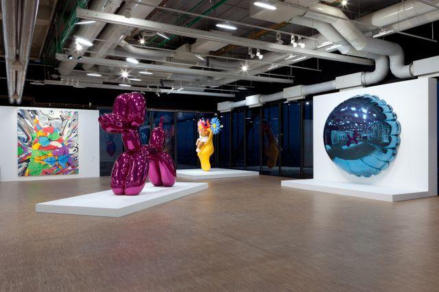 Vue de l'expo Jeff Koons en 2014