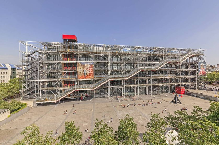 Centre Pompidou or Beaubourg by architects Renzo Piano, Richard Rogers and Gianfranco Franchini