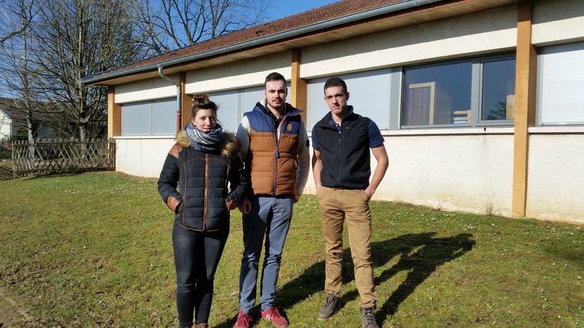 Anaïs, Michel et Loris, étudiants en 2ème année de BTS agricole au CFA Chateaufarine à Besançon