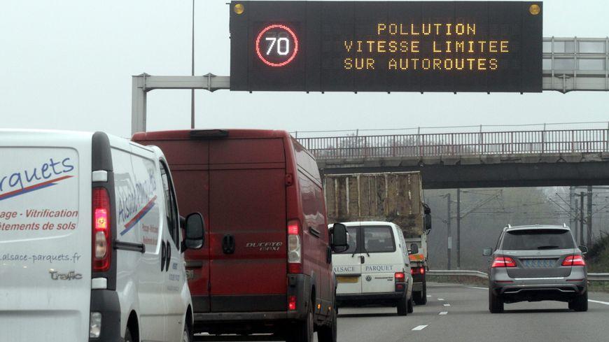 Limitation de la vitesse dans la traversée de Strasbourg en raison d'un épisode de pollution.