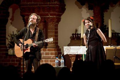 Jesca Hoop et Sam Beam le 7 septembre 2016 à Berlin.