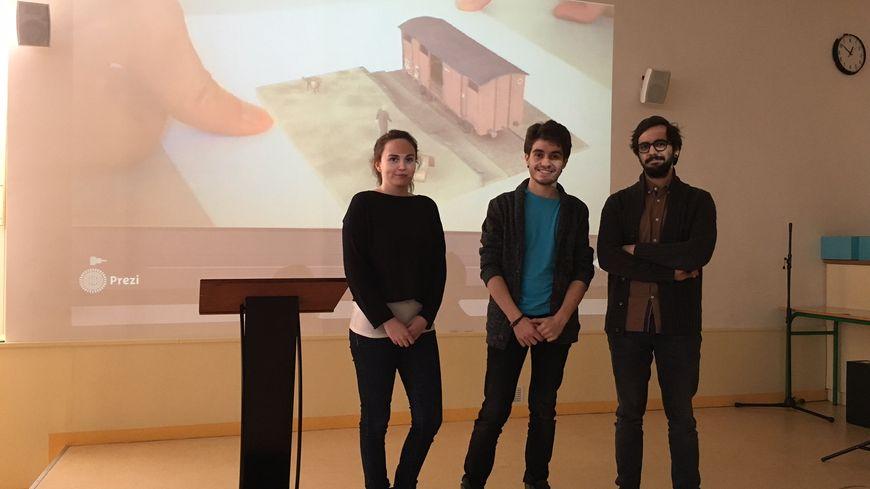 Les trois étudiants de Laval 3di ont mis au point une application pour le Mémorial des déportés de la Mayenne.