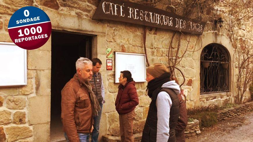 A Aujac, l'inquiètude alors que le restaurant a fermé ses portes.