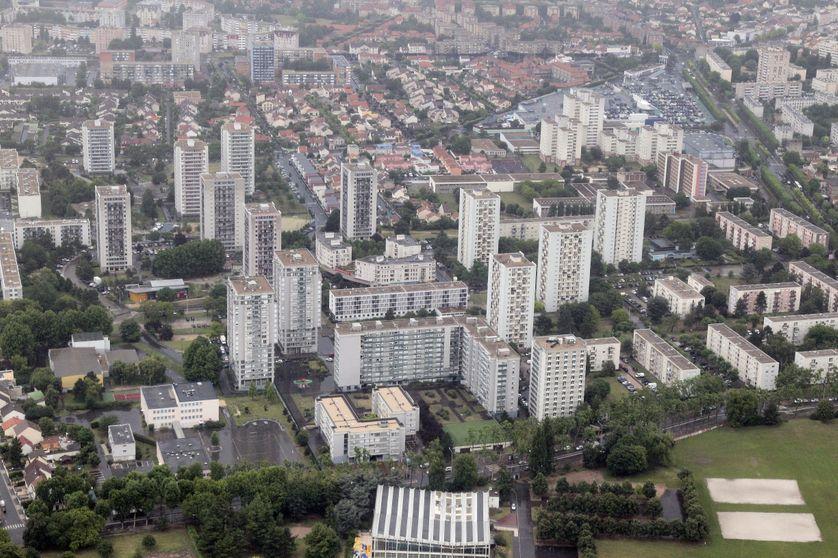 vue aérienne de la Courneuve