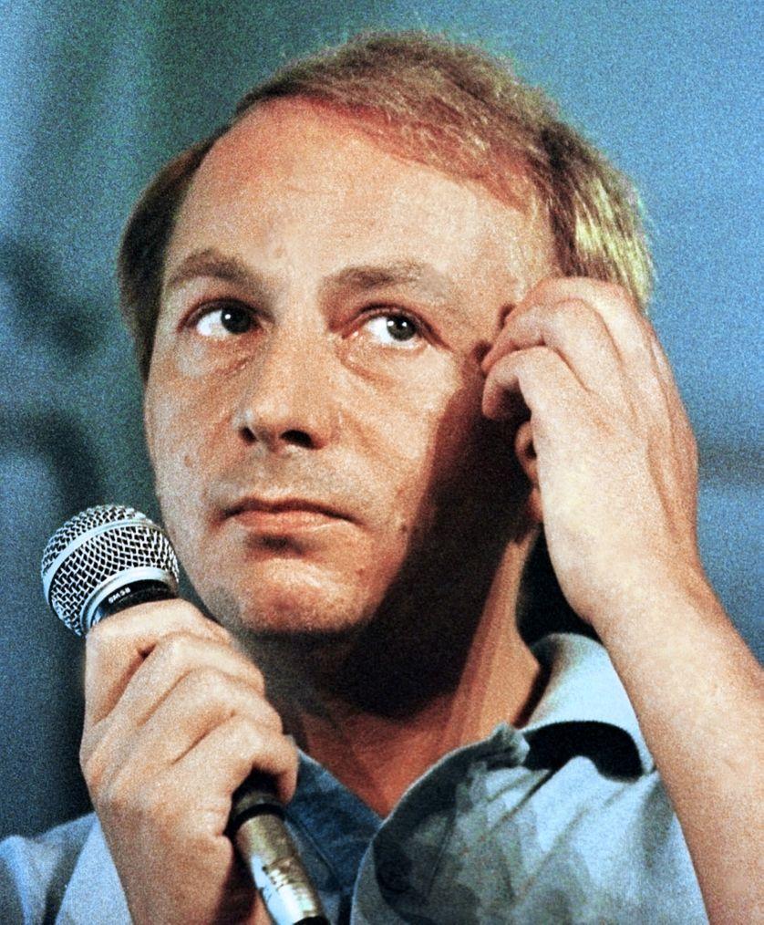 """Michel Houellebecq en août 1999 lors du festival """"La route du rock"""""""