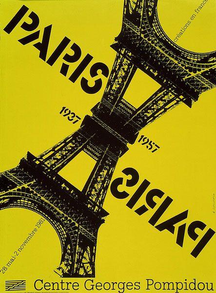 """Affiche de l'exposition """"Paris-Paris"""". Créations en France, 1937-1957 (28 mai 1981 - 02 novembre 1981)"""
