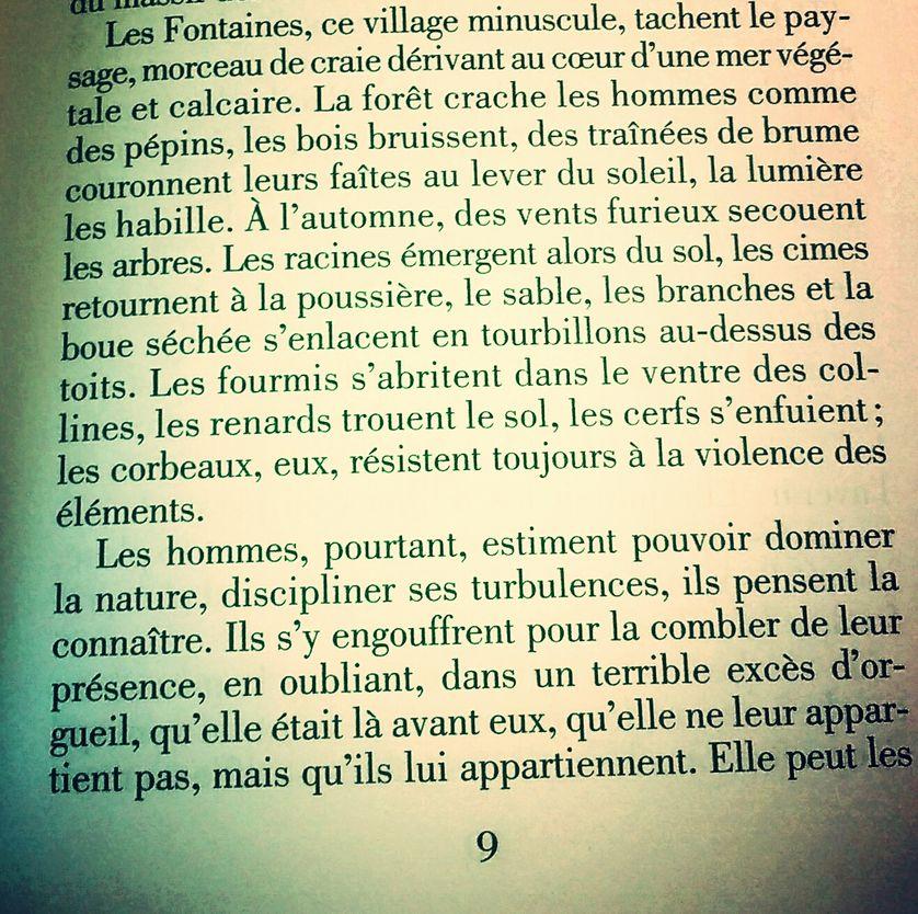 """""""Trois saisons d'orage"""" de Cécile Coulon, p. 9"""