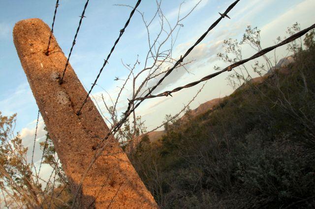 La frontière entre les Etats-Unis et le Mexique en Arizona