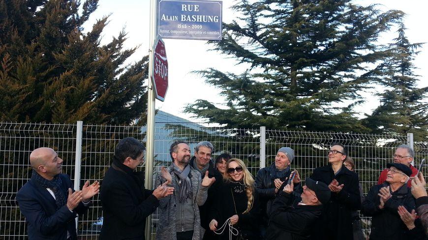 La rue Alain Bashung inaugurée à Mulhouse ce vendredi après-midi