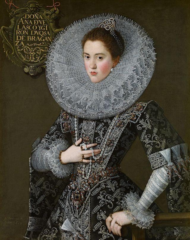Juan Pantoja de la Cruz - Portrait de Doña Ana de Velasco et Girón