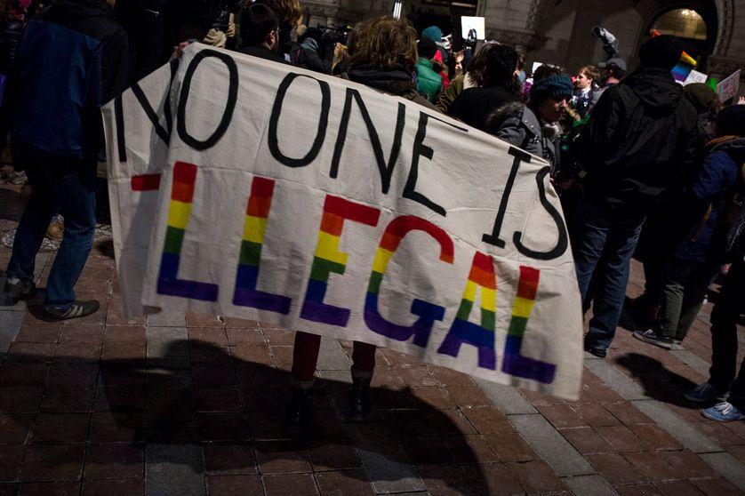Manifestation contre le décret anti-immigration organisée par WERK for Peace le 3 février 2017 à Washington