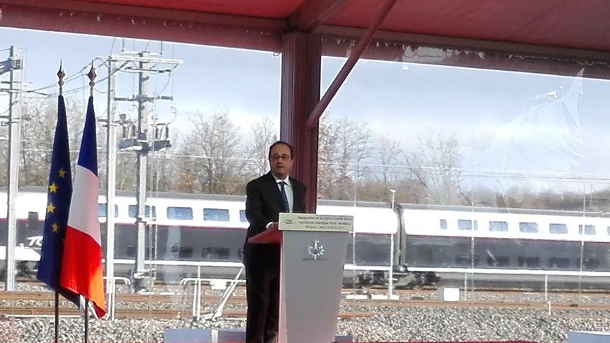 François Hollande en Charente pour inaugurer la future ligne LGV
