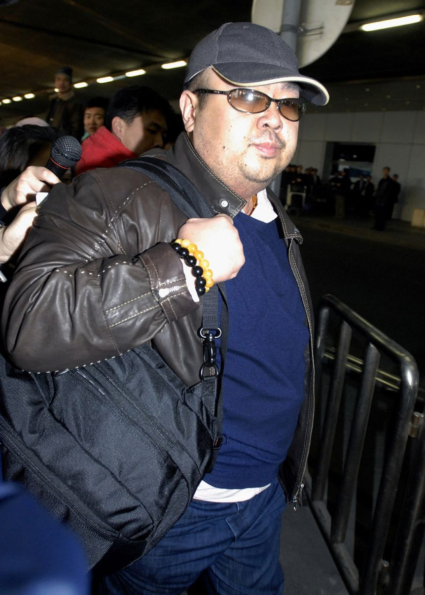 Kim Jong-Nam à l'aéroport international de Pékin en Chine. Photo prise le 10 février 2007.
