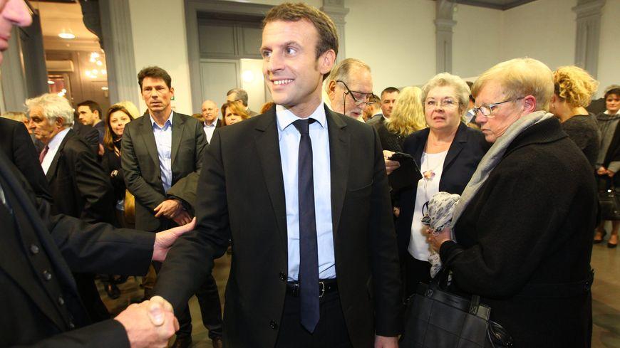 Emmanuel Macron lors de sa dernière visite officielle à Amiens, le 25 Novembre 2016