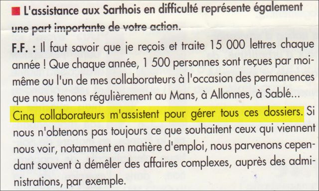 Extrait d'un journal électoral de François Fillon datant de 1993