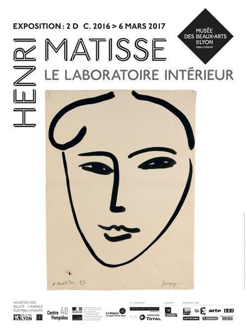 """Affiche """"Matisse, le laboratoire intérieur"""""""