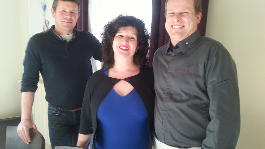 Thierry Boyer maraîcher, Lydie Marien et son époux, le Chef Bruno Marien