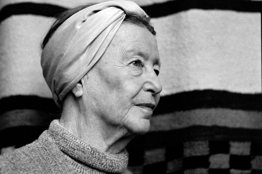 Simone de Beauvoir en 1983 à Paris.