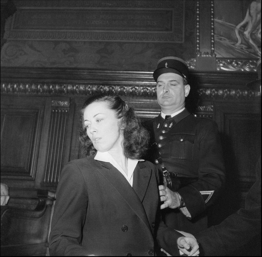Pauline Dubuisson à son procès en 1953