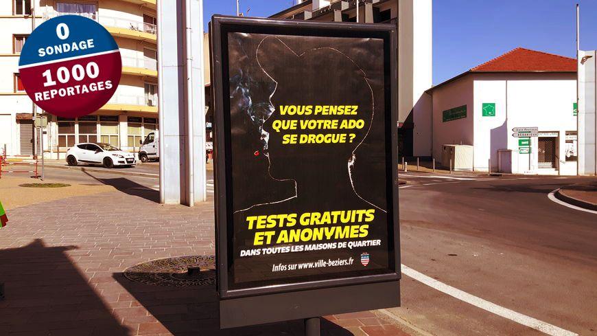 Campagne d'affichage dans Béziers.