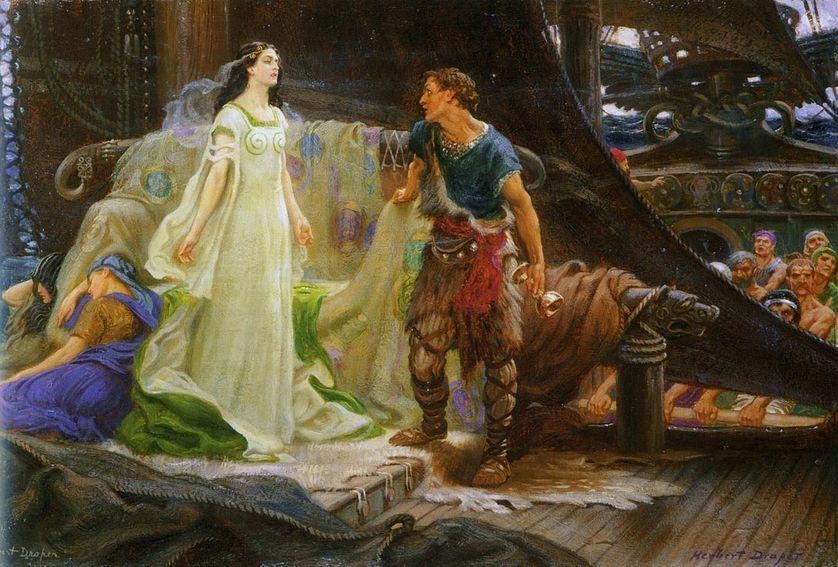 Tristan et Iseut par Herbert James Draper, 1901