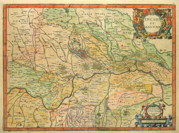 Carte de Mantoue vers 1600