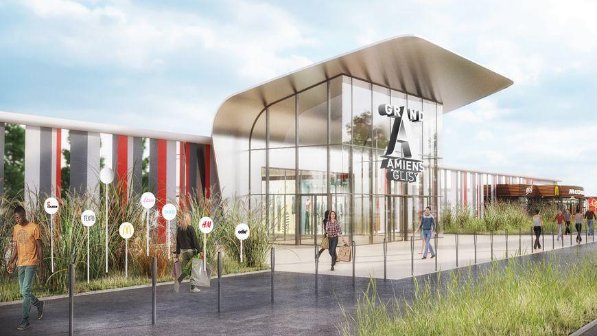 Projet de rénovation des façades et entrées du centre commercial Amiens-Glisy