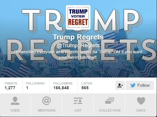 Un compte twitter pour les électeurs de Trump déçus