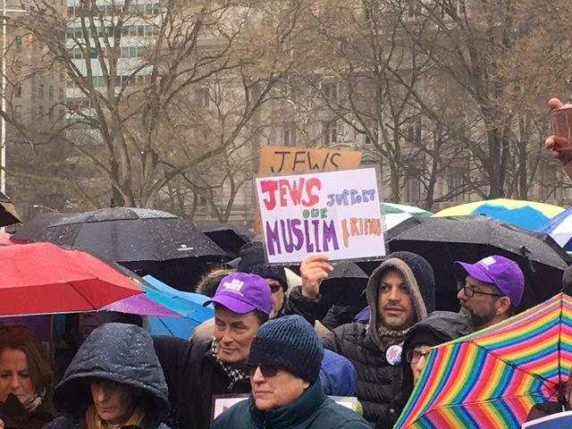 Une manifestation anti-Trump à New-York organisée par des juifs.