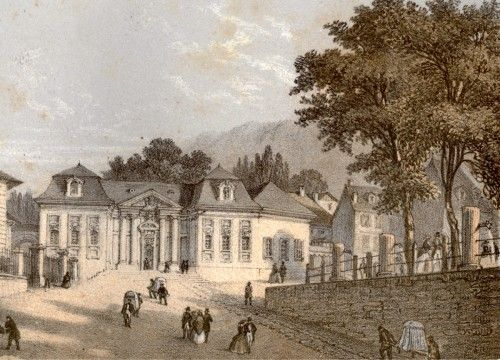 Aix les Bains Le Bâtiment royal des Bains. Deroy et Muller, vers 1855