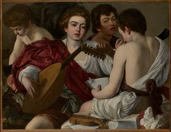 Les musiciens, Caravage, vers 1595