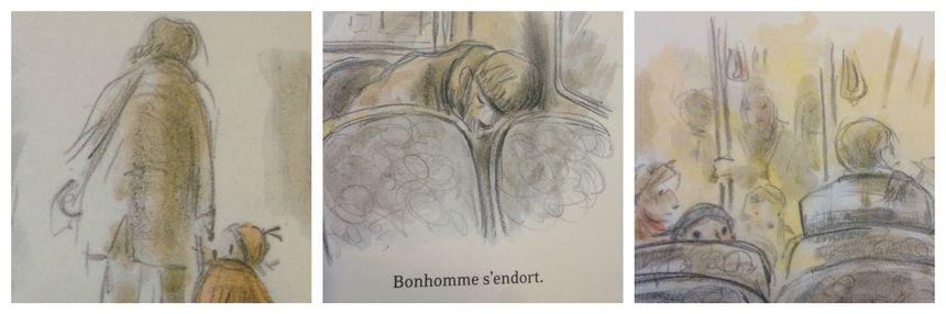 """Détail de l'album """"bonhomme"""" de Sarah V et Claude K.Dubois"""