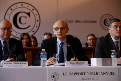 Didier Migaud, président de la Cour des comptes, lors de la présentation de son rapport le 8 février 2017