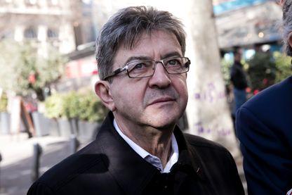 Jean-Luc Mélenchon candidat (La France Insoumise) à l'élection présidentielle le 24 février 2017