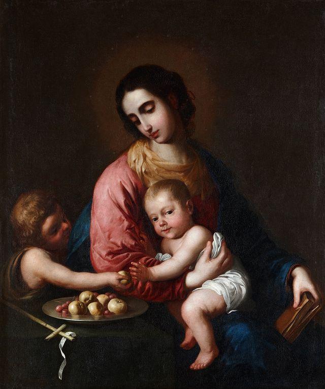 Francisco de Zurbarán - Vierge à l'Enfant avec saint Jean-Baptiste -