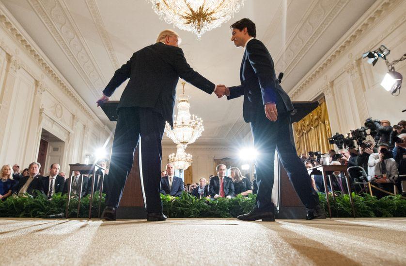 Rencontre entre Donald Trump et Justin Trudeau à Washington le 13 février 2017